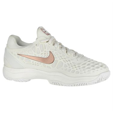 Nike Zoom Cage 3 Womens Tennis Shoe - Phantom/Metallic Rose Gold