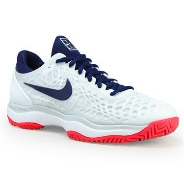 Nike Zoom Cage 3 Womens Tennis Shoe - White/Binary Blue/Pure Platinum