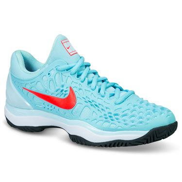49b014957c89 Nike Zoom Cage 3 Womens Tennis Shoe - Still Blue Bright Crimson Topaz Mist  ...