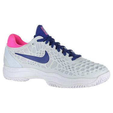 Nike Zoom Cage 3 Womens Tennis Shoe - Half Blue/Indigo Force/Pink Blast/White