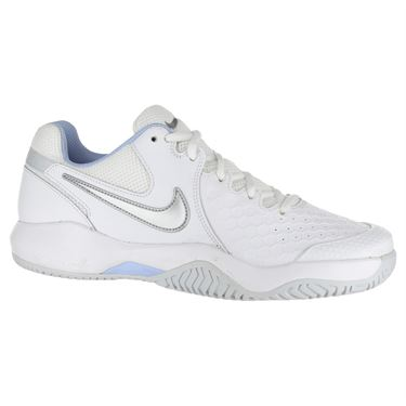 Nike Air Zoom Resistance Womens Tennis Shoe - White/Metallic Silver/Pure Platinum