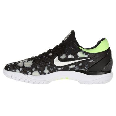Nike Air Zoom Cage 3 Premium Mens Limited Edition Tennis Shoe - Black/White/Volt Glow