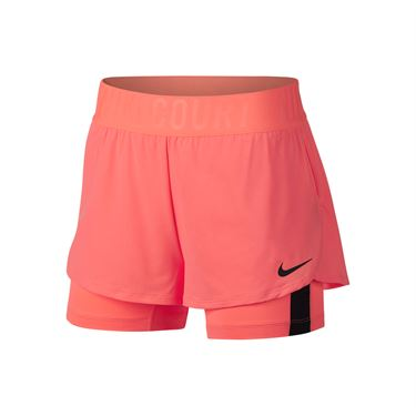 Nike Court Dry Ace Short - Lava Glow/ Black