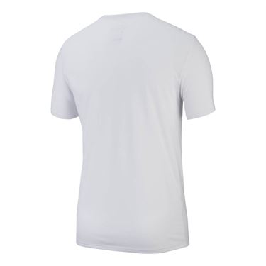 Nike Court Dry Rafa Tee - White/Habanero Red