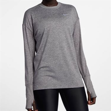 Nike Element Long Sleeve Top - Gunsmoke/Atmosphere Grey Heather