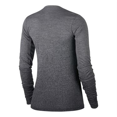Nike Medalist Long Sleeve Top - Gunsmoke/Black