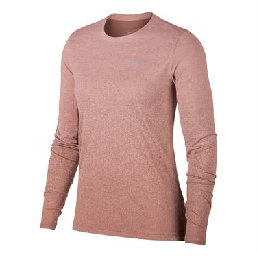 Nike Medalist Long Sleeve Top - Rust Pink/Smokey Mauve