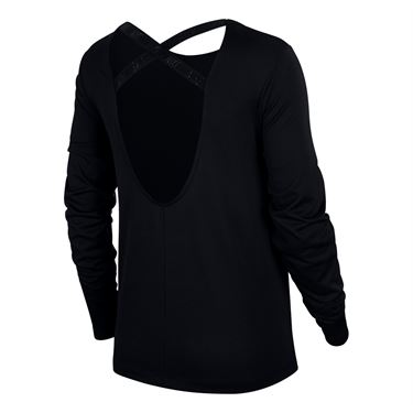 Nike Dry Long Sleeve Top - Black
