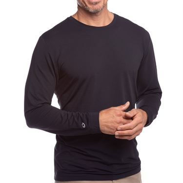 IBKUL Long Sleeve Crew Mens Black 93199 BLK