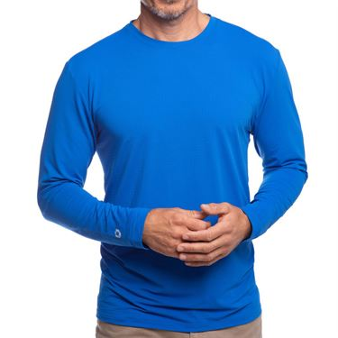 IBKUL Long Sleeve Crew Mens Royal 93199 RYL