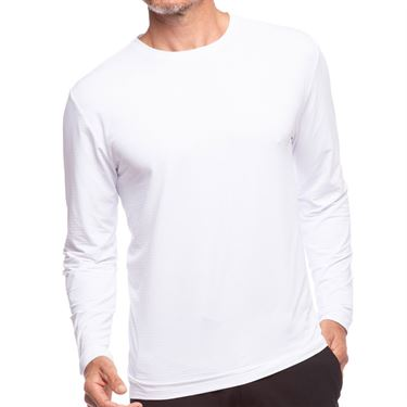 IBKUL Long Sleeve Crew Mens White 93199 WHT