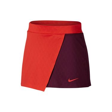 Nike Court Dry Maria Skirt - Habanero Red/Bordeaux