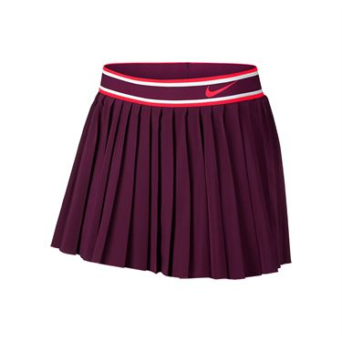 Nike Court Victory Pleated Skirt - Bordeaux/Bright Crimson