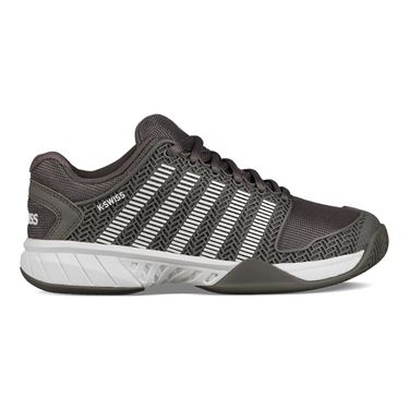 K Swiss Hypercourt Express Womens Tennis Shoe - Grey/White