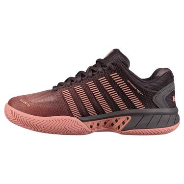 K Swiss Hypercourt Express Womens Tennis Shoe - Plum Kitten/Coral Almond/White