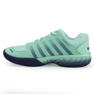 K Swiss Hypercourt Express Womens Tennis Shoe - Brook Green/Blue Ribbon