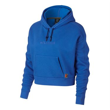 Nike Court Hoodie - Signal Blue/Blue Void/White