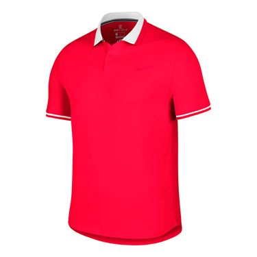 Nike Court Advantage Polo - Bright Crimson/Dune Red