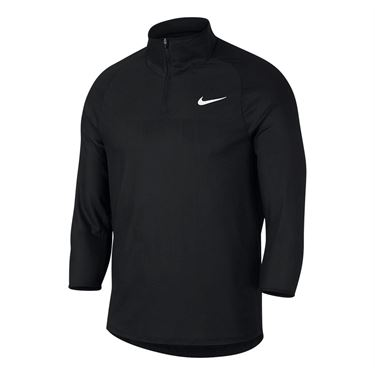 Nike Court Challenger 3/4 Sleeve Tennis Shirt - Black
