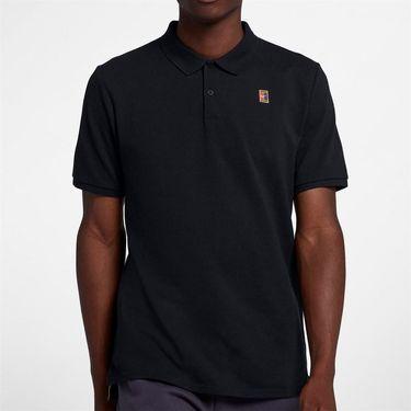Nike Court Heritage Polo - Black/White