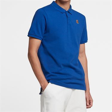 Nike Court Heritage Polo - Indigo Force/White