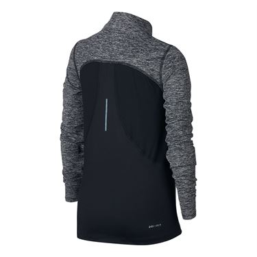 Nike Girls Dry Element 1/2 Zip Top - Black