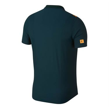 Nike Court RF Advantage Polo - Midnight Spruce/Orange Peel