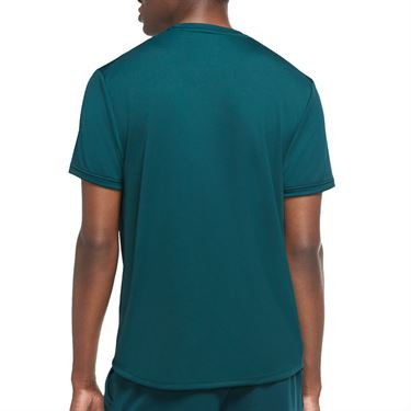Nike Court Dri Fit Crew Shirt Mens Dark Atomic Teal/Black 939134 300