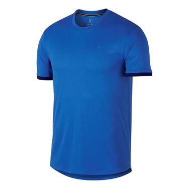 Nike Court Dry Crew - Signal Blue/Blue Void/White