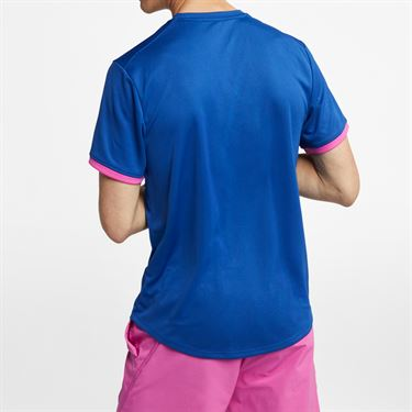 Nike Court Dry Crew - Indigo Force/Active Fuchsia