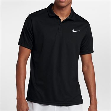 Nike Court Dry Team Polo - Black/White