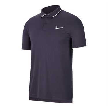 Nike Court Dry Polo Shirt Mens Gridiron/White 939137 015