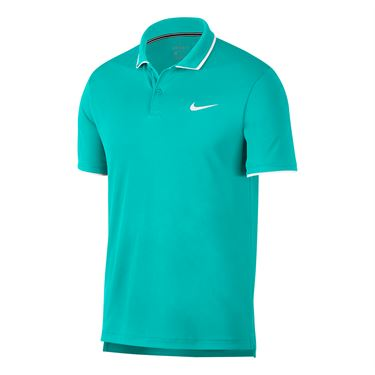 Nike Court Dry Team Polo - Hyper Jade/White