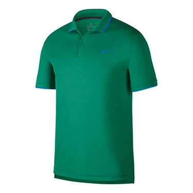 Nike Court Dry Polo - Lucid Green/Photo Blue