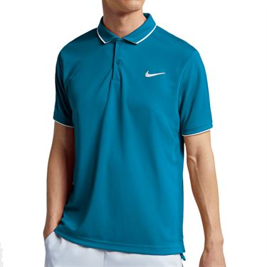 Nike Court Dry Polo Shirt Mens Neo Turquoise/White 939137 425