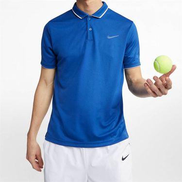 Nike Court Dry Polo - Indigo Force/White