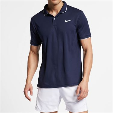 Nike Court Dry Team Polo - Obsidian/White