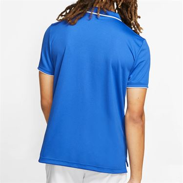 Nike Court Dry Polo Shirt Mens Game Royal/White 939137 480