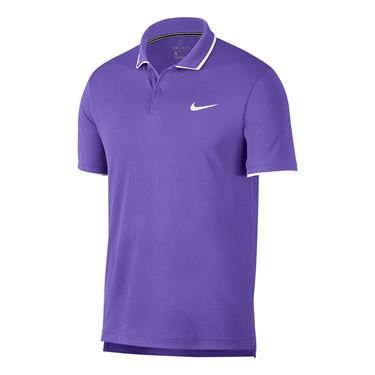 Nike Court Dry Team Polo - Psychic Purple/White