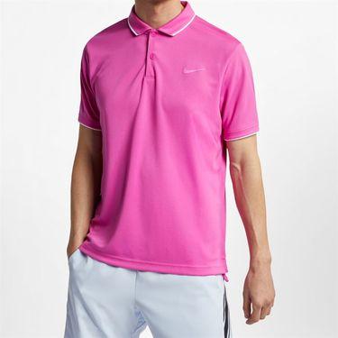 Nike Court Dry Polo - Active Fuchsia/White