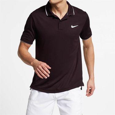 Nike Court Dry Team Polo - Burgundy Ash/White