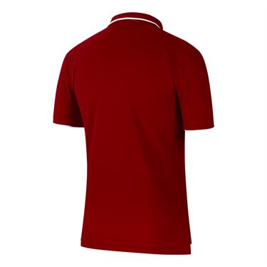 Nike Court Dri Fit Polo Shirt Mens Gym Red/White 939137 687