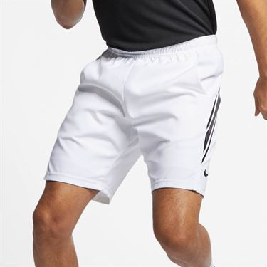 Nike Court Dry 9 Inch Short - White/Black