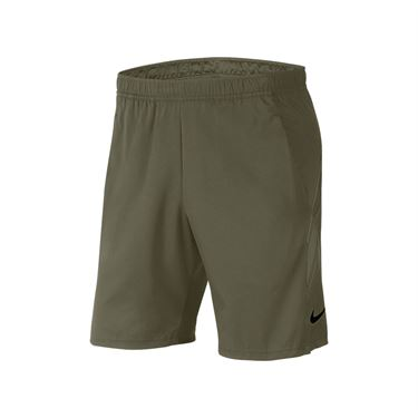 Nike Court Dry 9 inch Short Mens Medium Olive 939265 222