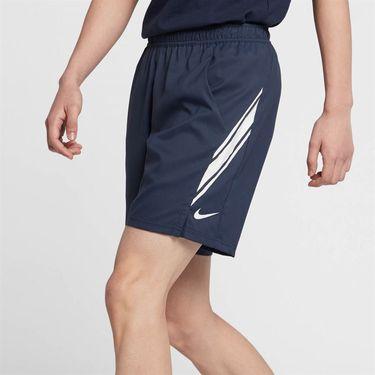 Nike Court Dry 9 Inch Short - Obsidian/White