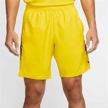 Nike Court Dry 9 inch Short Mens Opti Yellow/Off Noir 939265 731