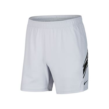 Nike Court Dry 7 inch Short Mens Sky Grey/Black 939273 042