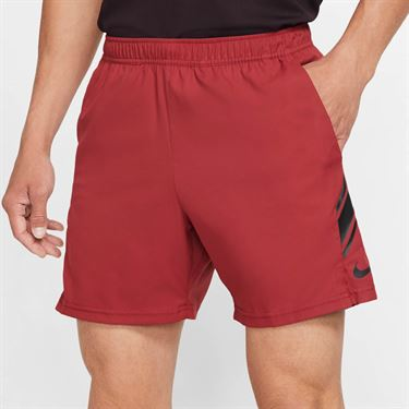 Nike Court Dry Short Mens Team Crimson /Black 939273 613