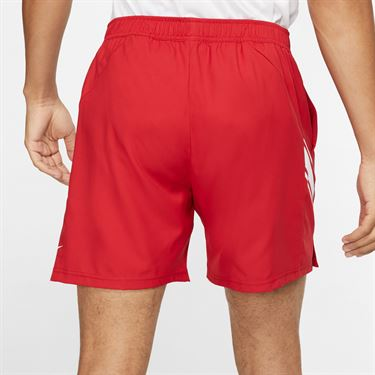 Nike Court Dry 7 inch Short Mens Gym Red/White 939273 688