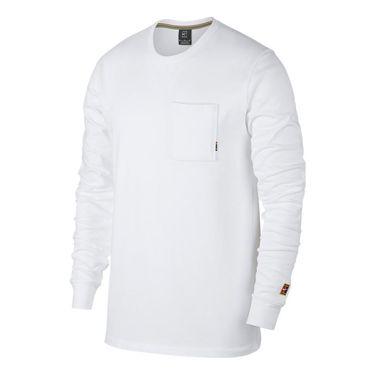 Nike Court Heritage Long Sleeve - White